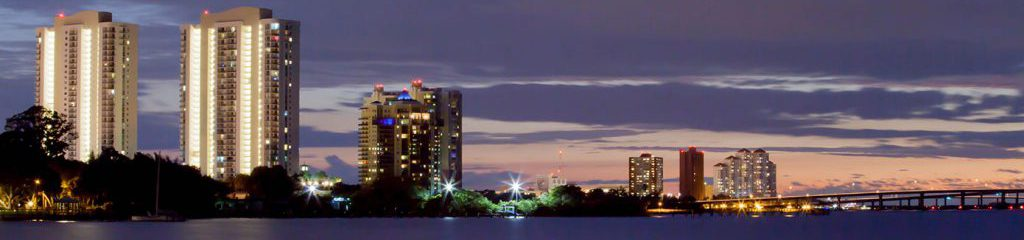 Downtown Fort Myers Florida skyline